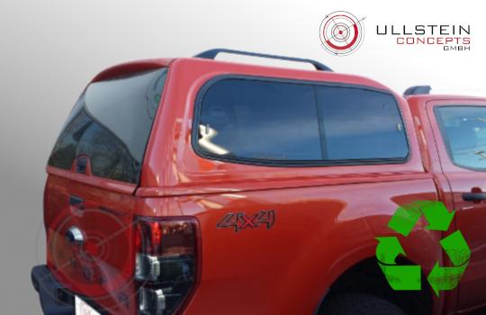 Ford Ranger double cab Canopy Sammitr V2 sliding side window