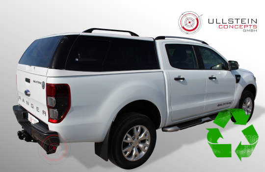 Ford Ranger double cab hardtop Sammitr V4 sliding side window