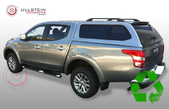 Mitsubishi L200 2016 Doppelkabine Hardtop Green-Top Ausstellfenster