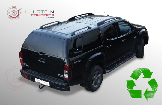 Canopy Isuzu D-Max double cab Sammitr V4 sliding side window