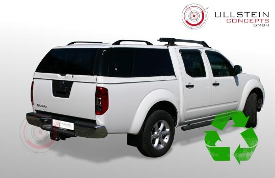 Nissan Navara Hardtop  D40 Sammitr V4 Schiebefenster Weiß